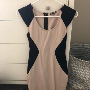 Express 0 Color Block Bodycon Dress